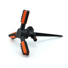3-arm rotating sprinkler TRIO on spike - ECO-TS-1011- Black Line